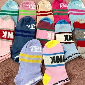 🌿NWOT 10 pairs VS PINK NO SHOW SOCKS🌿